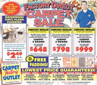 Factory Direct Carpet Sale