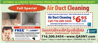 Fall Special Air Duct Cleaning