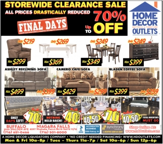 Storewide Clearance Sale