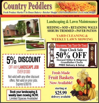 Landscaping And Lawn Maintenance Country Peddlers West