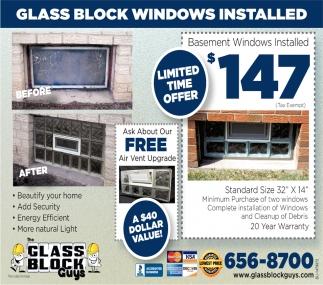 Glass Block Windows Installed