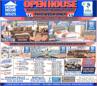 Open House New Inventory Blowout Event