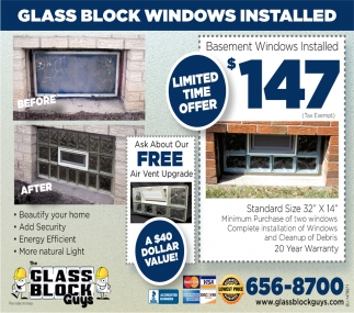 Glass Block Windows Installed