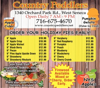 Order Your Holiday Pies Early!