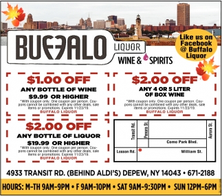 $1.00 Off Any Bottle Of Wine