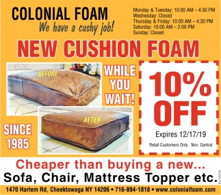New Cushion Foam