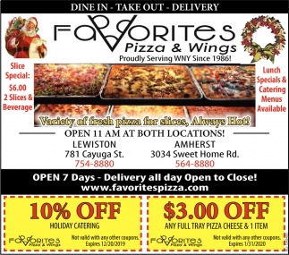 Dine In - Take Out - Delivery