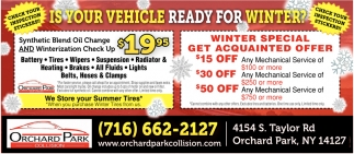Us Your Vehicle Ready For Winter?