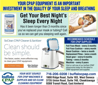 Your CPAP Equipment Is An Important Investment In The Quality Of Your Sleep And Breathing