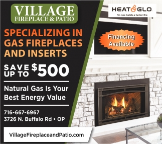 Specializing In Gas Fireplace And Inserts