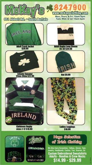 Huge Selection Of Irish Clothing