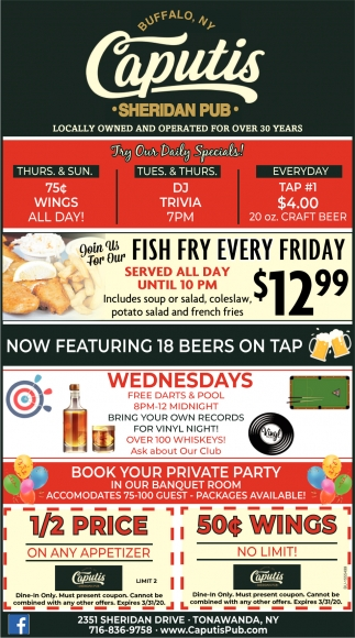 Try Our Daily Specials!