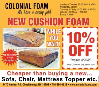 New Cushion Foam