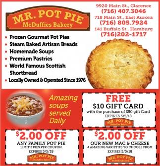 Mr. Pot Pie McDuffies Bakery