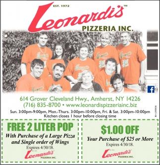 Leonardi's Pizzeria Inc