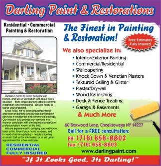 The Finest In Painting And Restoration!