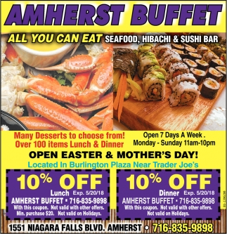 All You Can Eat Seafood, Hibachi And Sushi Bar