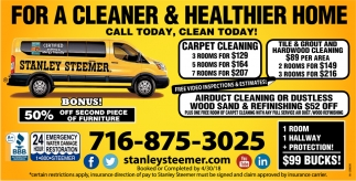 For A Cleaner And Healthier Home Stanley Steemer