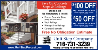 Save On Concrete Steps And Railings