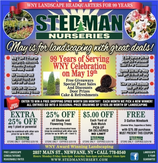 May Is For Landscaping With Great Deals!