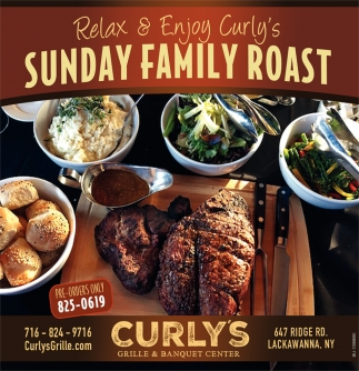 Relax And Enjoy Curly's Sunday Family roast