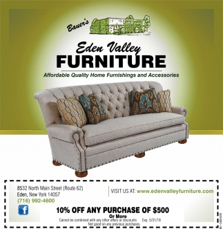 Affordable Quality Home Furnishings And Accessories, Eden Valley Furniture,  Eden, NY