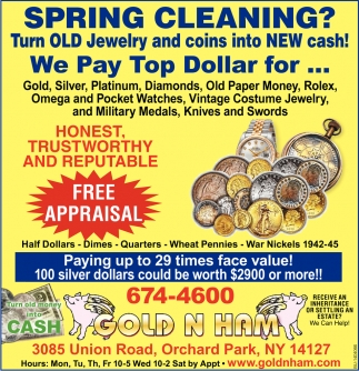 Spring Cleaning? we Pay Top Dollar For...