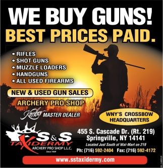 We Buy Guns! Best Prices Paid.