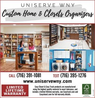 Custom Home And Closets Organizers