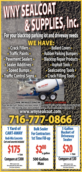 For Your Blacktop Parking Lot And Driveway Needs